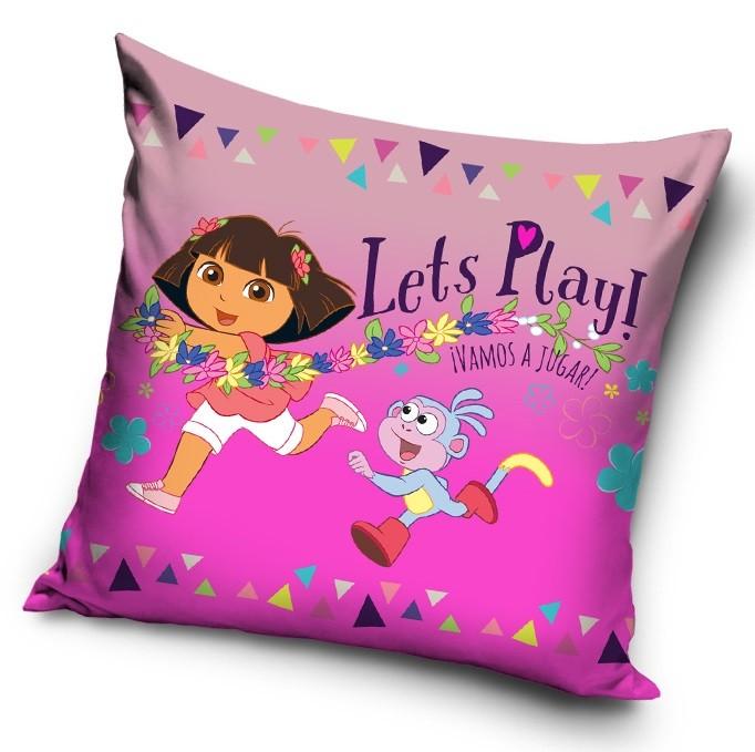 Dívčí růžový povlak na polštářek