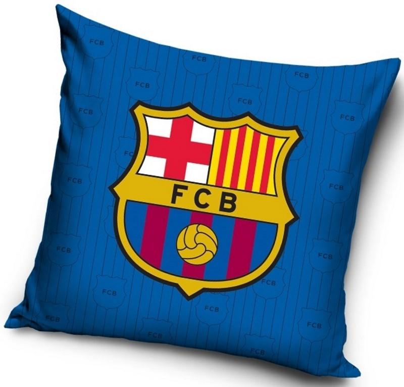 Modrý povlak na polštář FC Barcelona