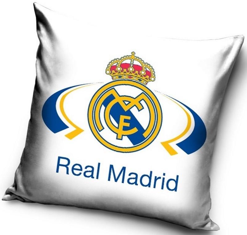 Bílý povlak na polštář se vzorem Real Madrid