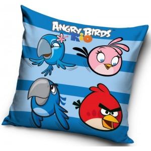 Modré obliečky na vankúše Angry Birds