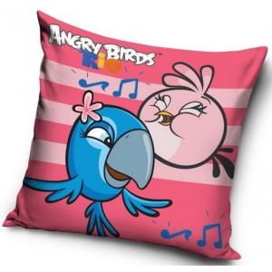 Růžový povlak na polštář Angry Birds