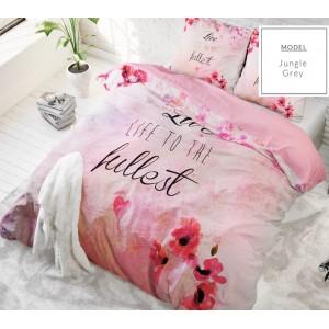 Bavlněné růžové ložní povlečení 200 x 220 cm