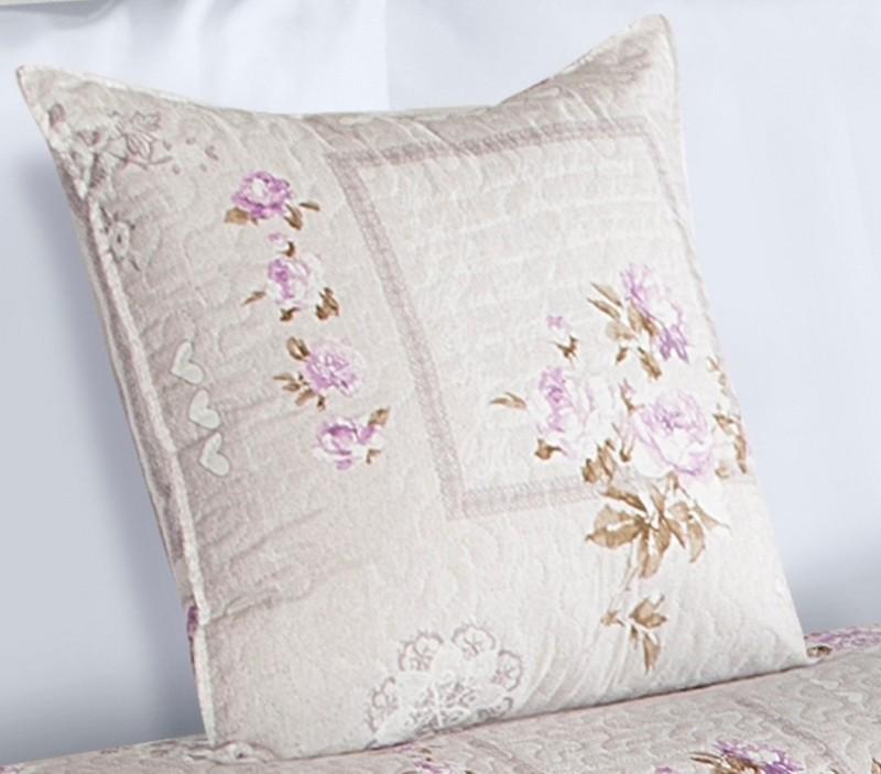 Béžové povlaky na polštáře s motivem růží