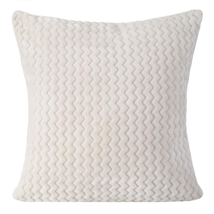 Bílé ozdobné povlaky na polštáře 40x40 cm