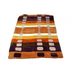Hrubá barevná deka 100 x 150 cm