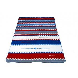 Pruhovaná deka modré barvy