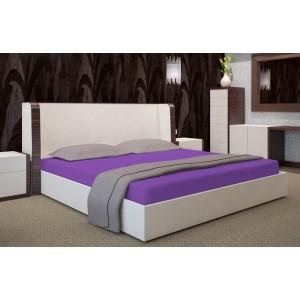 Fialové napínací plachty na postele