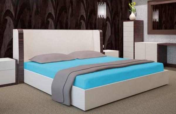 Tyrkysové prostěradlo na postel s gumičkou