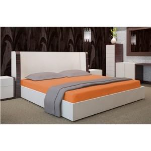 Oranžová napínací plachta na postel