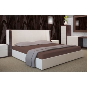 Hnědá plachta na postel 180x200 cm
