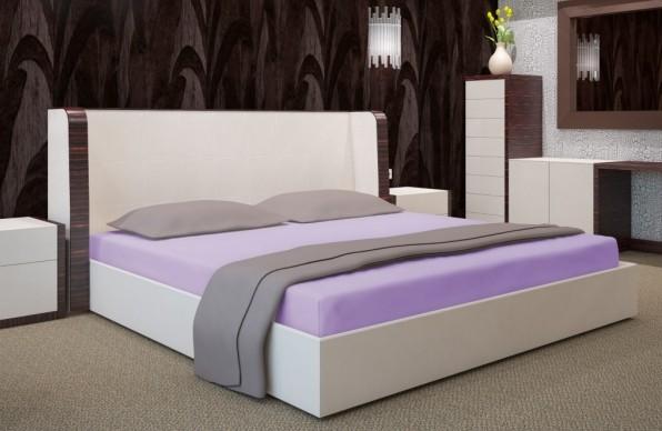 Světlo fialové plachty na postele 140x200 cm