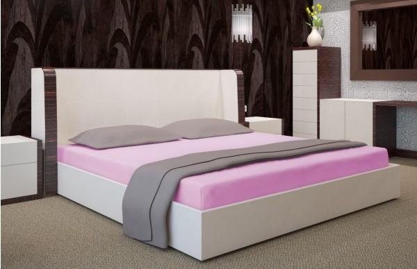 Prostěradlo na postel tmavě růžové barvy