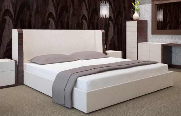 Bílé bavlněné prostěradla na postele