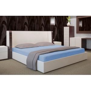 Modré prostěradlo na postel 160x200 cm