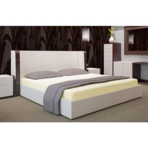 Krémové prostěradlo na postel s gumičkou