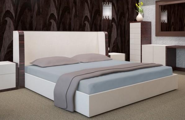 Šedé prostěradlo na postel 90x200 cm