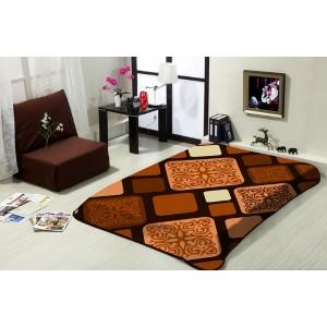 Hnědá deka na postel 160x220 cm