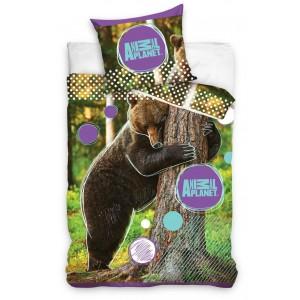 Bavlněné ložní povlečení se vzorem medvěda
