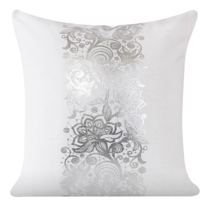 Bílé dekorační povlaky na polštářky s ornamentem