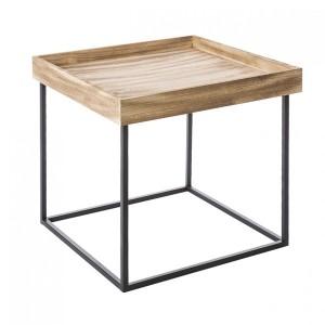 Dekorační stolek na kovových nožkách
