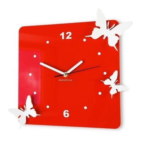 3D nástěnné dekorační hodiny motýle