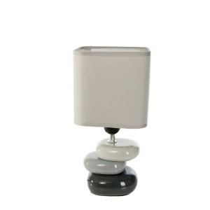 Moderní stolní lampy šedé barvy