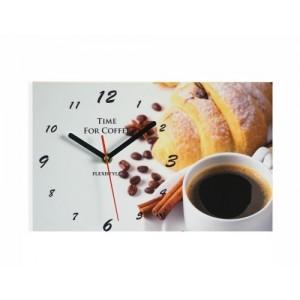 Šedé nástěnné hodiny do kavárny