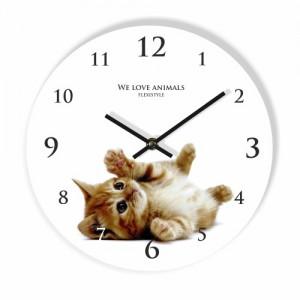 Kotě dětské hodiny na stěnu