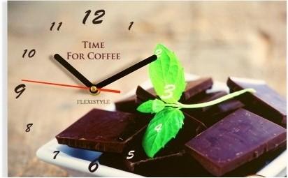 Ručičkové kuchyňské hodiny s čokoládou