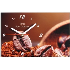 Moderní kuchyňské hodiny se zrnky kávy