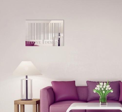 Obdélníkové dekorační zrcadlo I love design