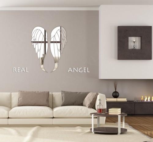 Akrylové zrcadla na stěnu v motivu křídel