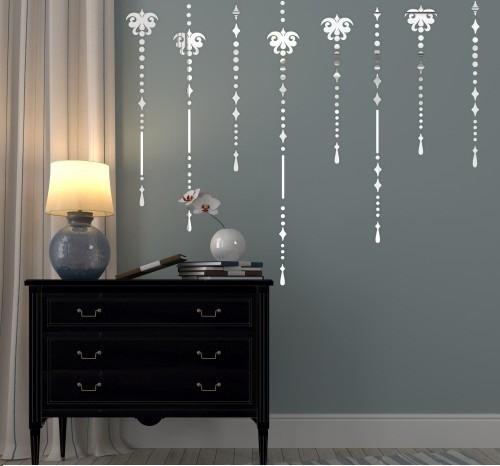 Set dekoračních nalepovacích zrcadel na stěnu