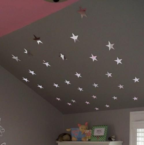 Nalepovací zrcadla na stěnu ve tvaru hvězd