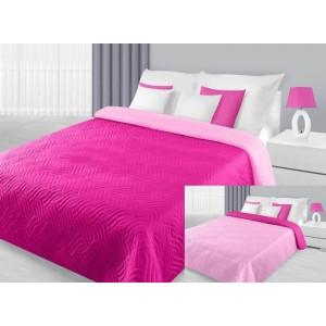 Přehoz na postel růžové barvy