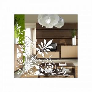 Nerozbitné dekorativní zrcadlo čtvercové