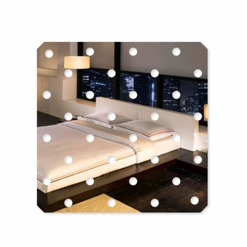 Dekorační nalepovací zrcadlo na zeď s kuličkami