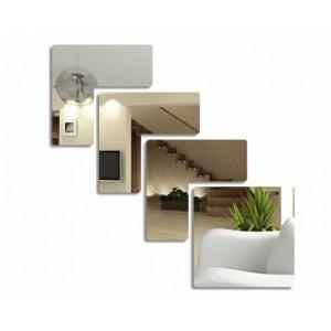 Nerozbitné nalepovací zrcadlo do obýváku