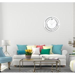 Bílé moderní hodiny na stěnu