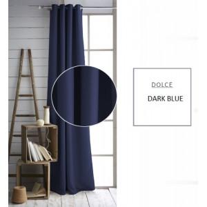 Tmavě modré závěsy jednobarevné