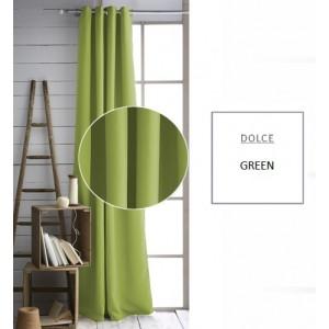 Jednobarevný zelený závěs do obýváku