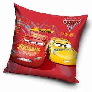 Dětský povlak na polštář v červené barvě McQueen