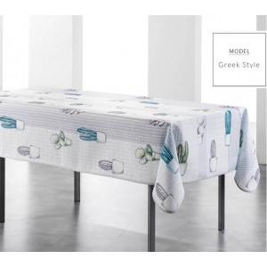 Bílé obrusy na kuchyňský stůl s motivem kaktusů