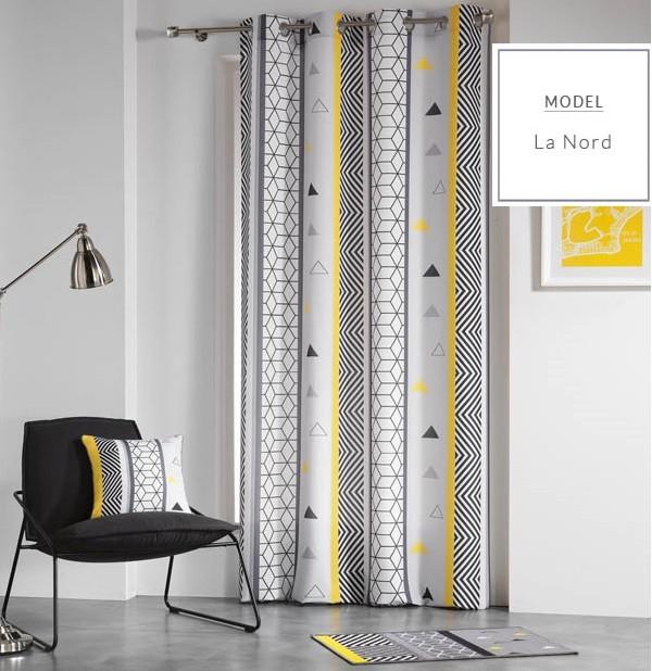 Závěsy v bílé barvě ve skandinávském stylu 140 x 260 cm