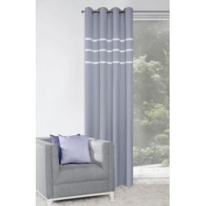 Stylový šedý okenní závěs