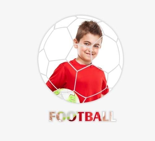 Dekorační zrcadlo ve tvaru fotbalového míče