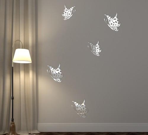 Dekorační zrcadlo ve tvaru motýlů