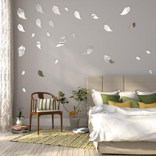 Dekorační interiérové zrcadla ve vzoru listí