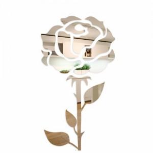 Ruža dekorační zrcadlo na stěnu