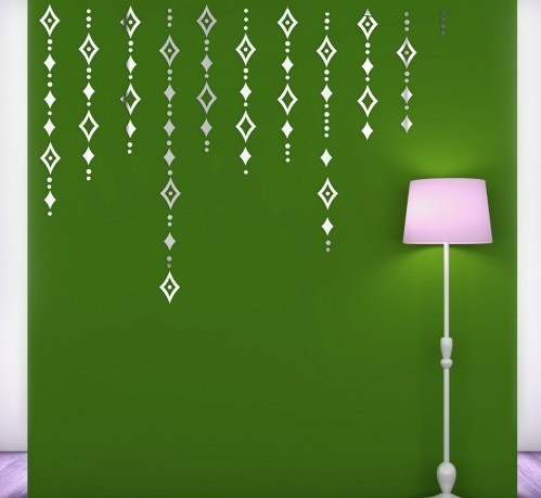 Set dekoračních zrcadela na stěnu